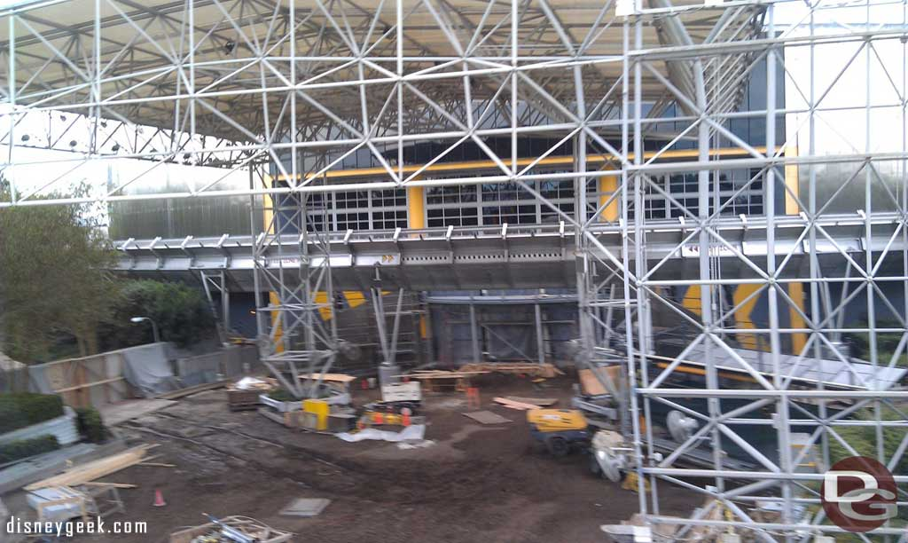 A check in on the Test Track work from the Monorail