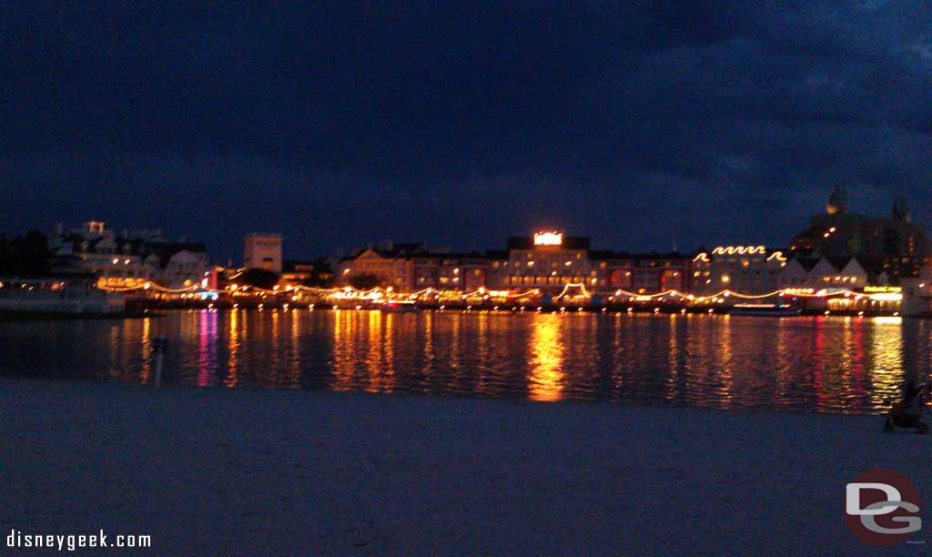 A look across at the Boardwalk as I head for EPCOT
