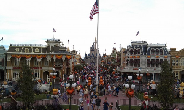 A look at Main Street USA this afternoon.  The parade just wrapped up.