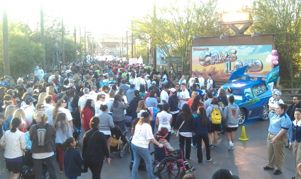A look down Route 66 as the #CHOCWalk fills the street