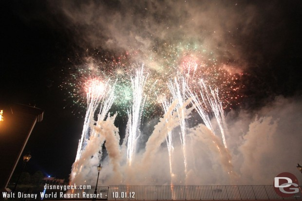A picture from the finale of the #Epcot30 tag to Illuminations