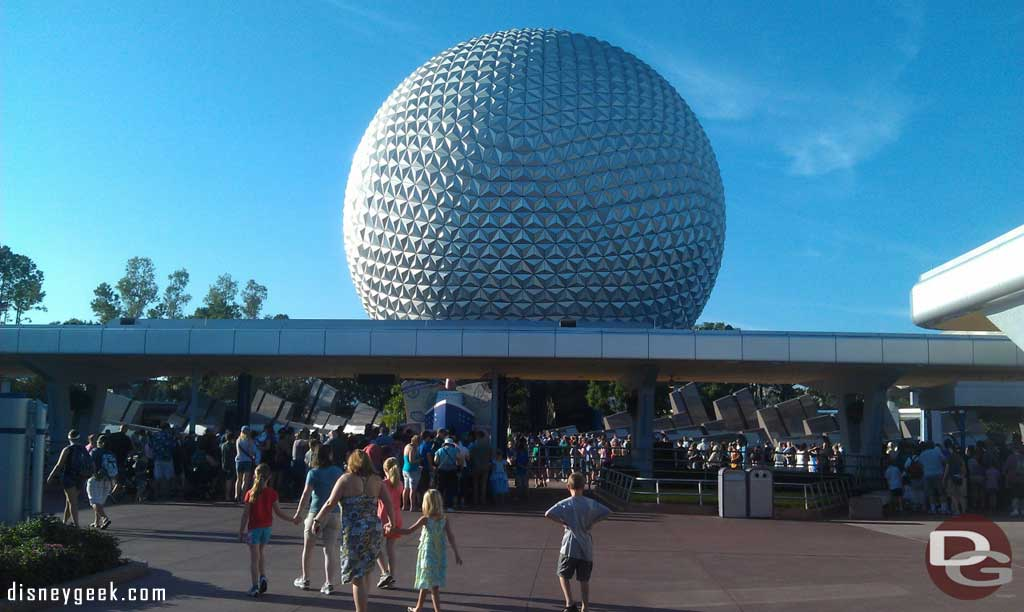 Arriving at the park for #EPCOT30