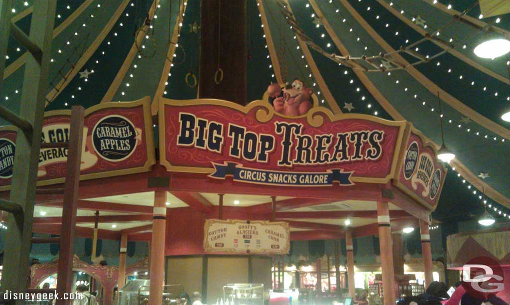 Big Top Treats opened Sunday