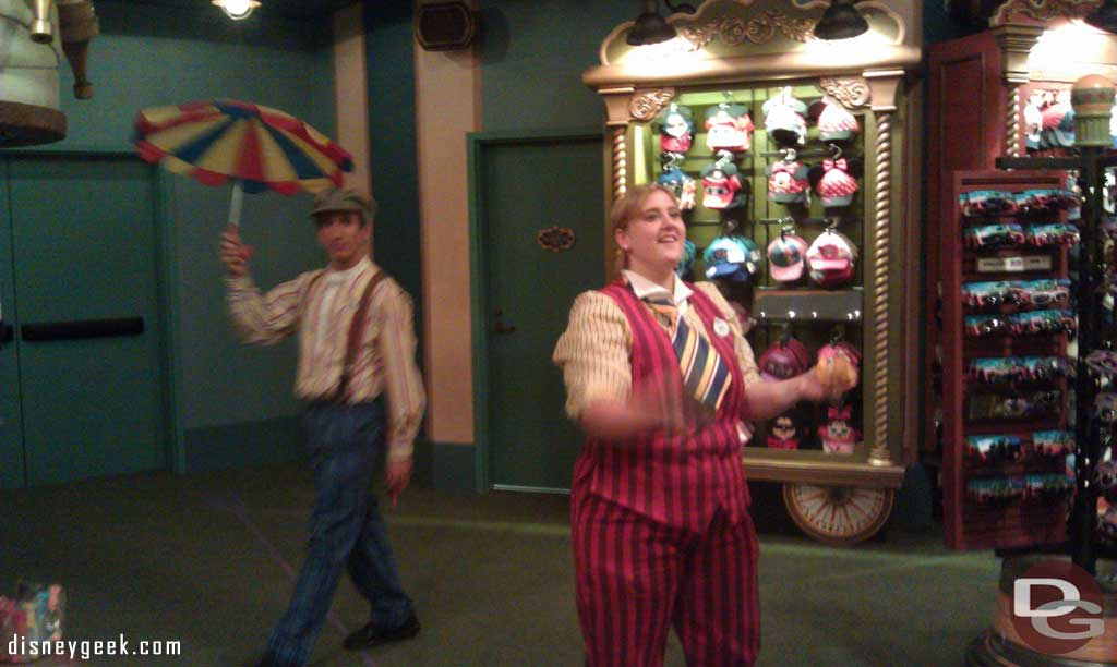 Cast Members into the act in the big top