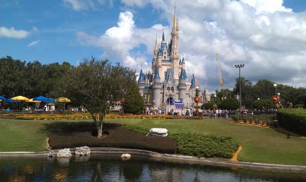 Cinderella Castle this afternoon.
