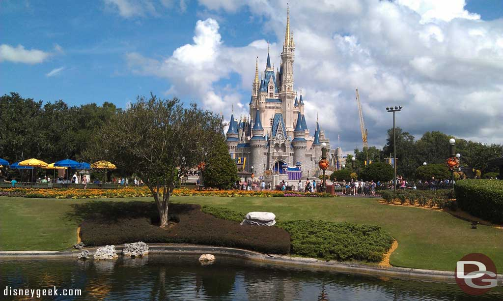 Cinderella Castle this afternoon.