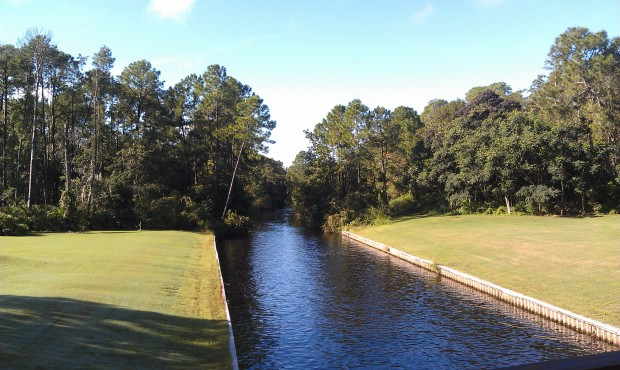 Crossing over the river on #13