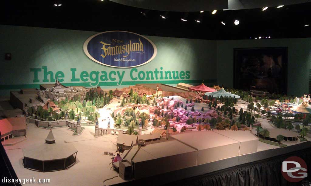 Fun to see the Fantasyland model again, it is on display in One Mans Dream