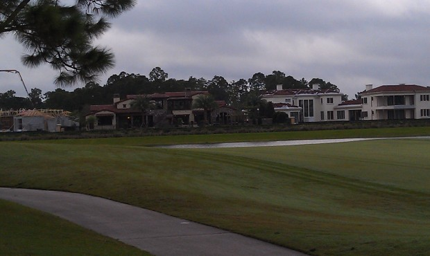 Golden Oak homes being built along the fairway