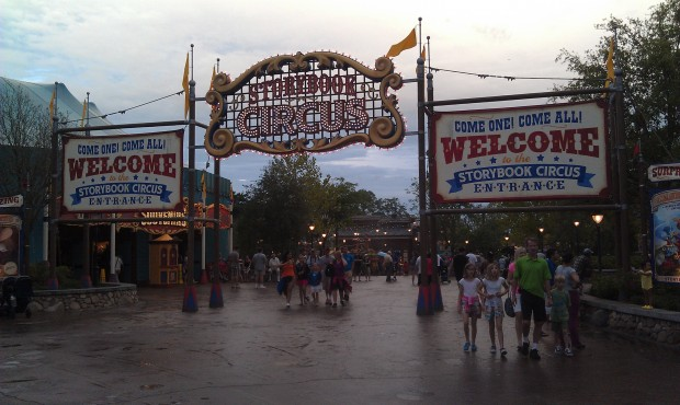 Heading into Storybook Circus