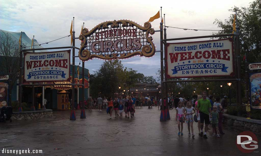 Heading into Storybook Circus