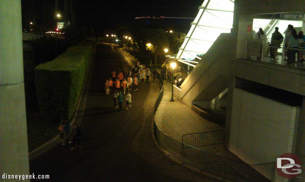 Just arrived at the #Disneyland Resort for the CHOC Walk.  A little prewalk for everyone, no trams this early.