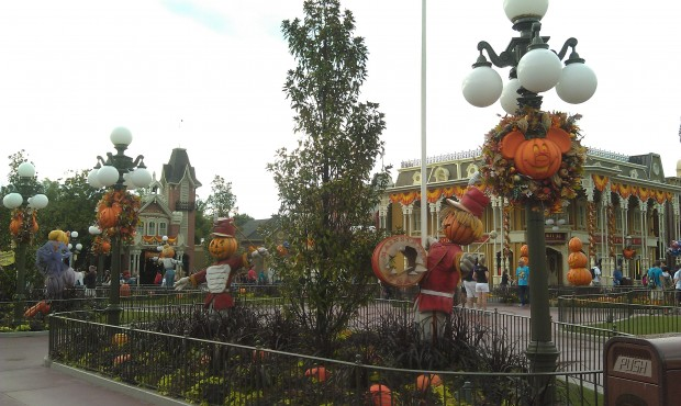 Main Street USA and some Halloween decorations