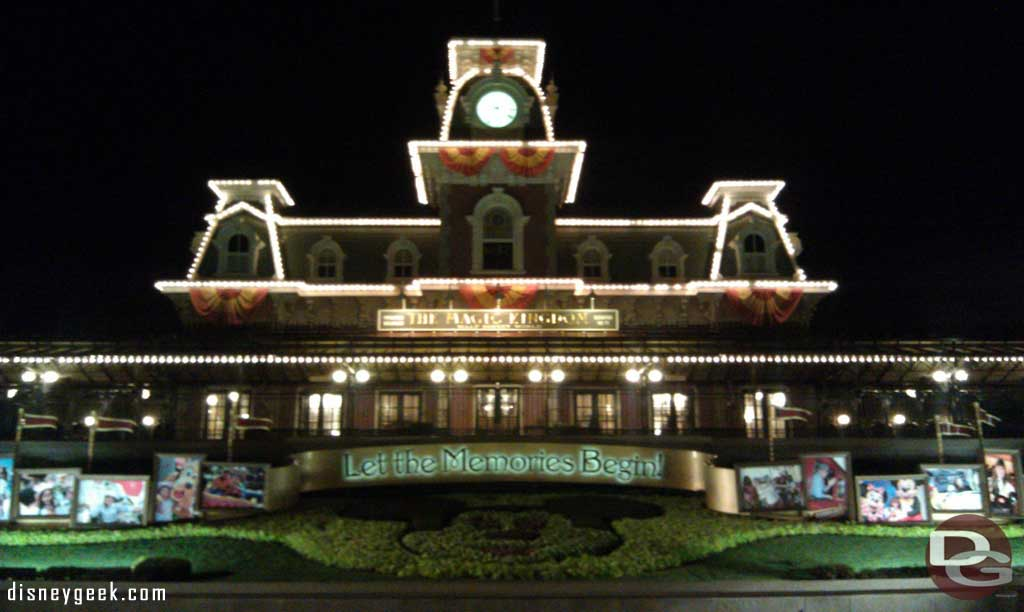 Main Street train station as I was exiting the park.