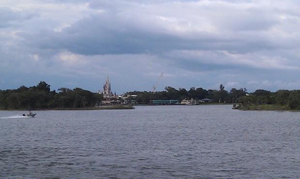 Next stop the Magic Kingdom.  A look across the Seven Seas Lagoon.