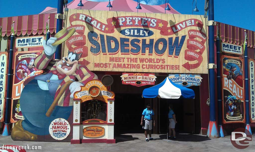 Petes Silly Sideshow is open today in Storybook Circus