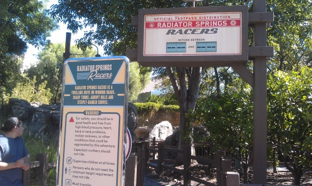 Racers Fastpasses are gone for the day already.