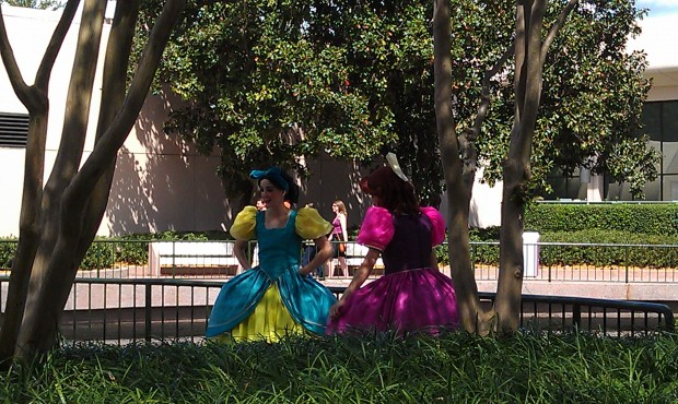 Seemed a little odd to see Cinderellas step sisters out in Future World at EPCOT