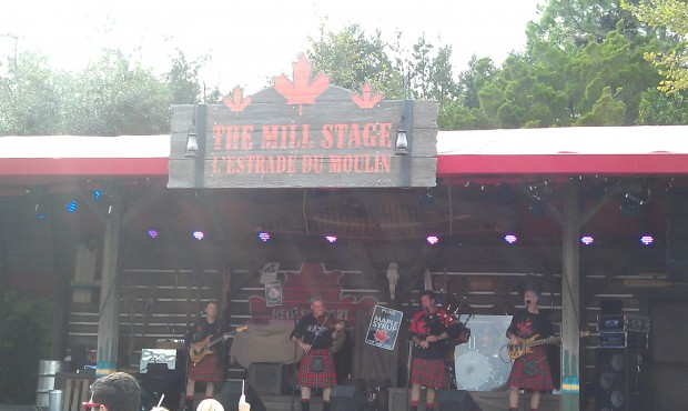 Stopped for an Off Kilter set in Canada