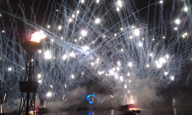 The Earth Globe did not open for the finale of Illuminations tonight.