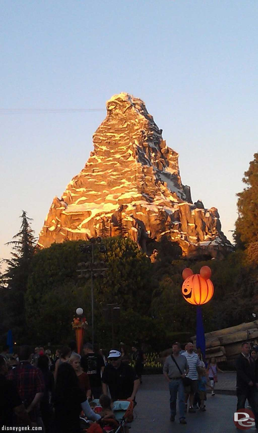 The Matterhorn as the sun is setting.