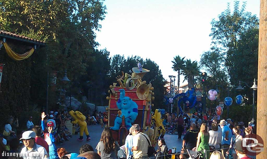 The Pixar Play Parade making its way through DCA