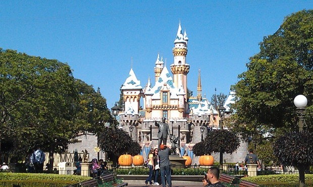 The annual snow fall on Sleeping Beauty Castle has occurred