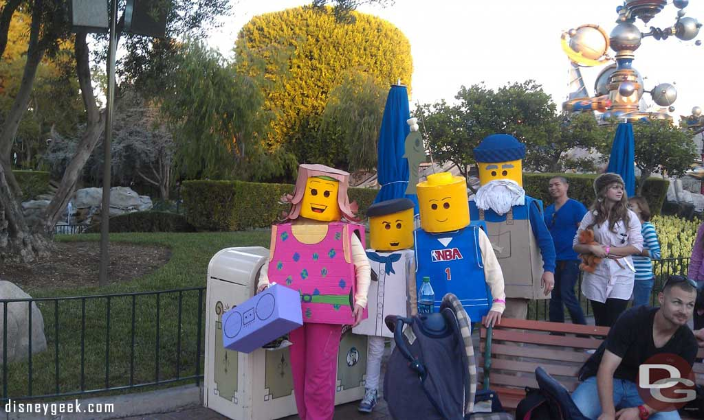 The best costumes I have seen so far.  A Lego family roaming the park.