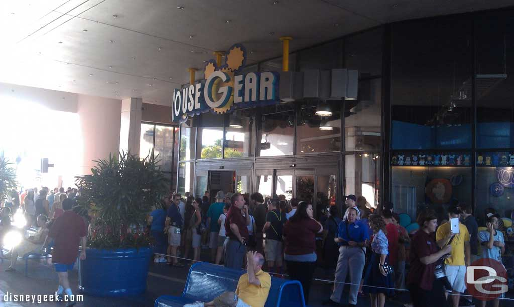 The end of the line at MouseGear for #Epcot30 merchandise.