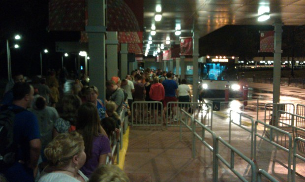 The line for Port Orleans from EPCOT is a several bus wait..