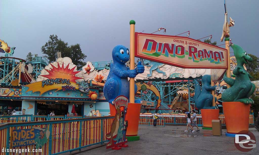 The rain has finally let up so out roaming AK.  here is a Dinoland pic