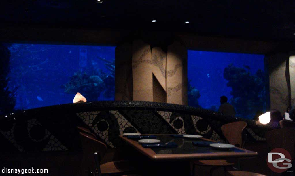 The view from our table at Coral Reef