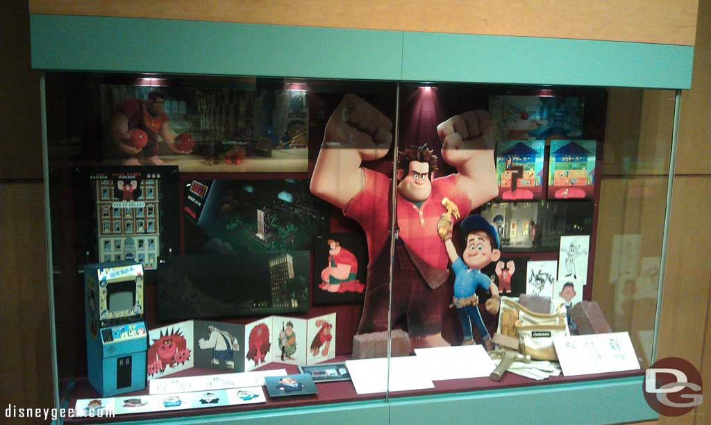 There is a Wreck It Ralph set of displays in the Production Gallery of the Animation Building.