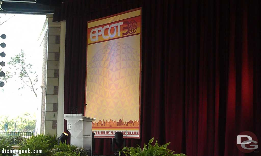 Waiting for the 30th Anniversary Ceremony for #Epcot30