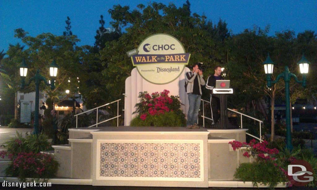 Waiting for the CHOC walk opening ceremony.