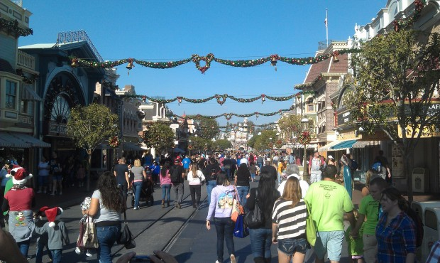 A look at Main Street USA this afternoon @ #Disneyland