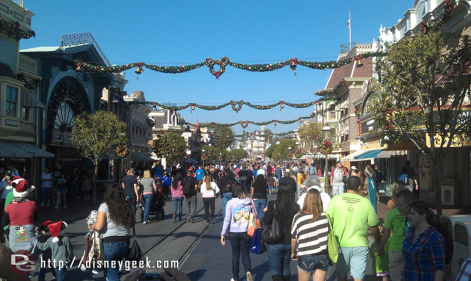 A look at Main Street USA this afternoon @ #Disneyland
