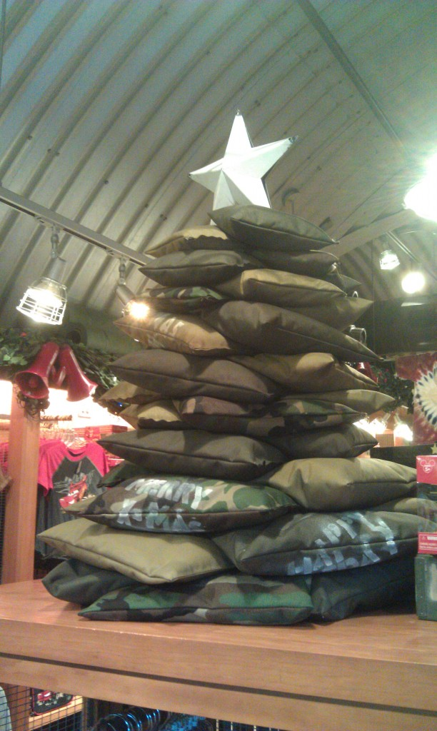 A sandbag tree in Sarges