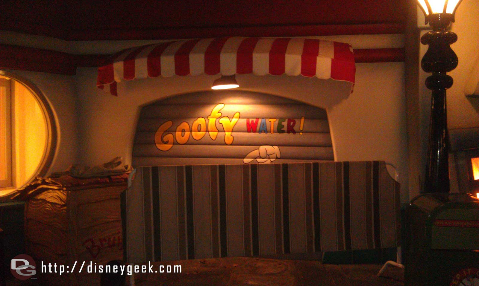 Goofys Gas in Toontown is out from behind scaffolding, but still working on the Goofy Water.