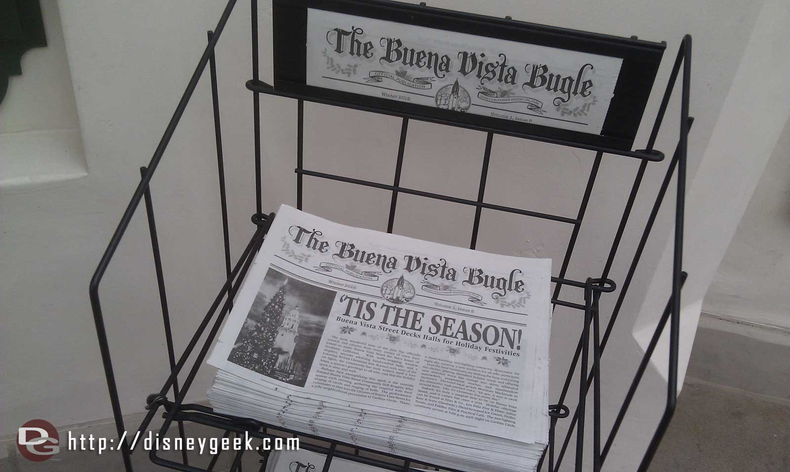 Holiday editions of the Buena Vista Bugle have hit news stands on #BuenaVistaStreet
