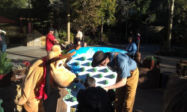 Pluto taking part in the reindeer games.