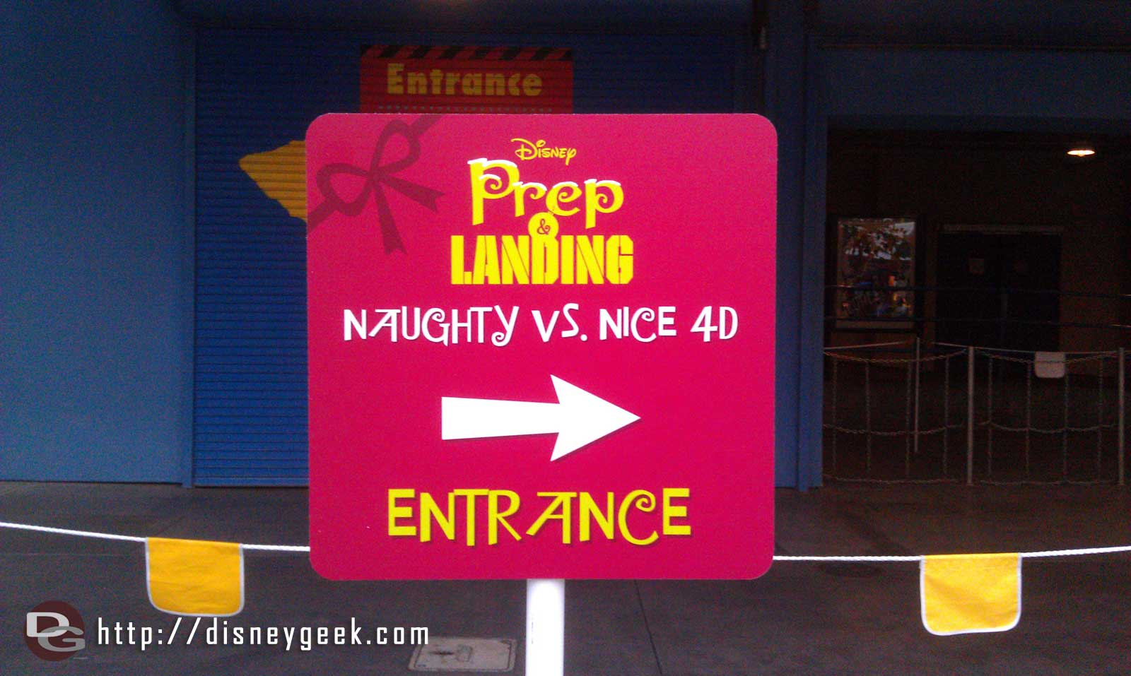 Prep & Landing Naughty vs Nice 4D is now playing in the Muppet theater.