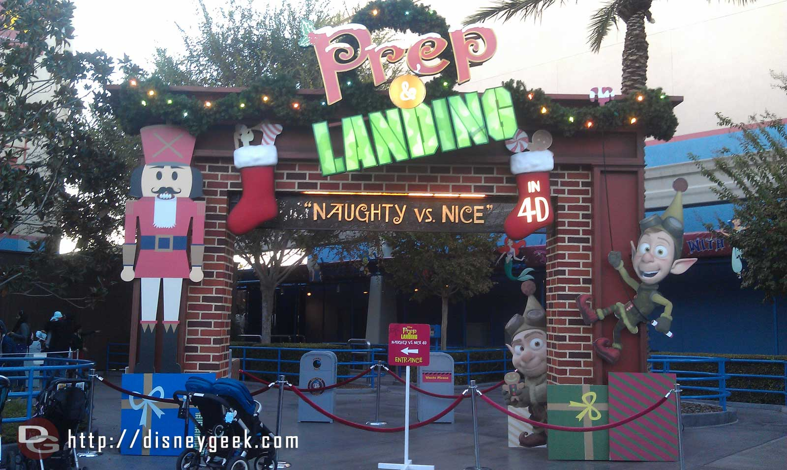 Prep and Landing has an entrance sign up this trip.