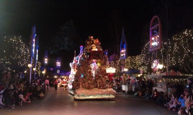 Santa closing out the parade.