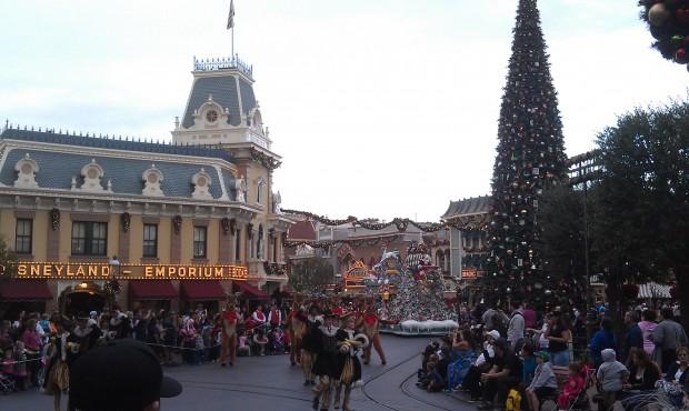 Santa in A Christmas Fantasy Parade
