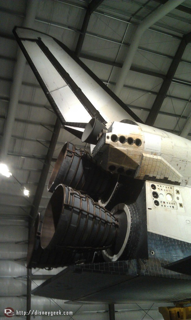 The tail section of Endeavour