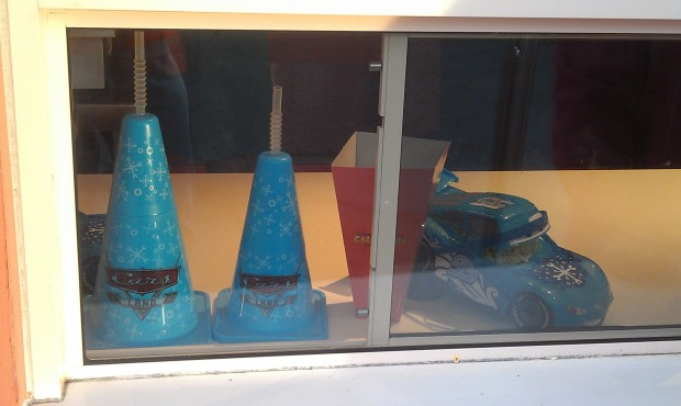 There are holiday inspired cone mugs and popcorn buckets.