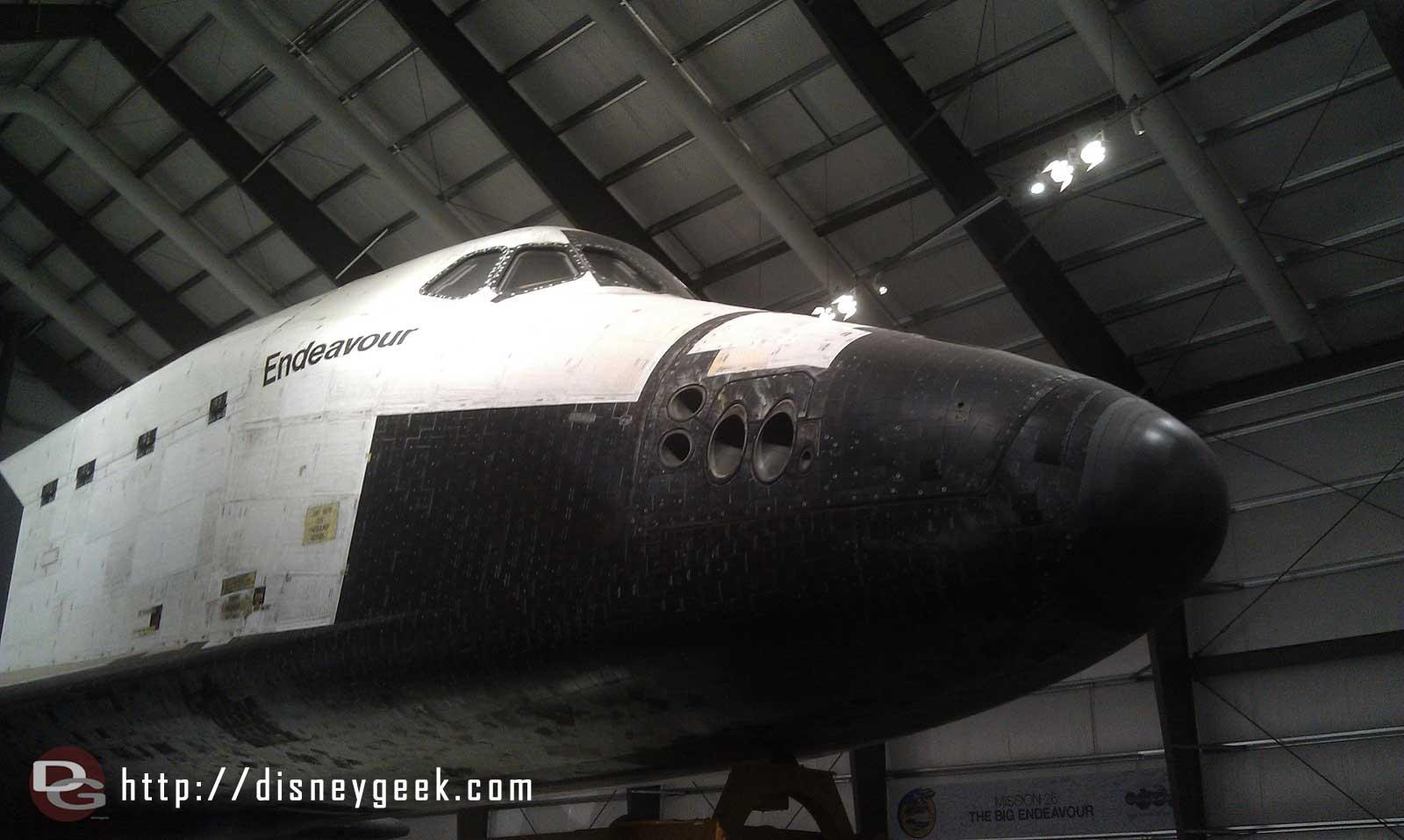 To close with the nose of Endeavour