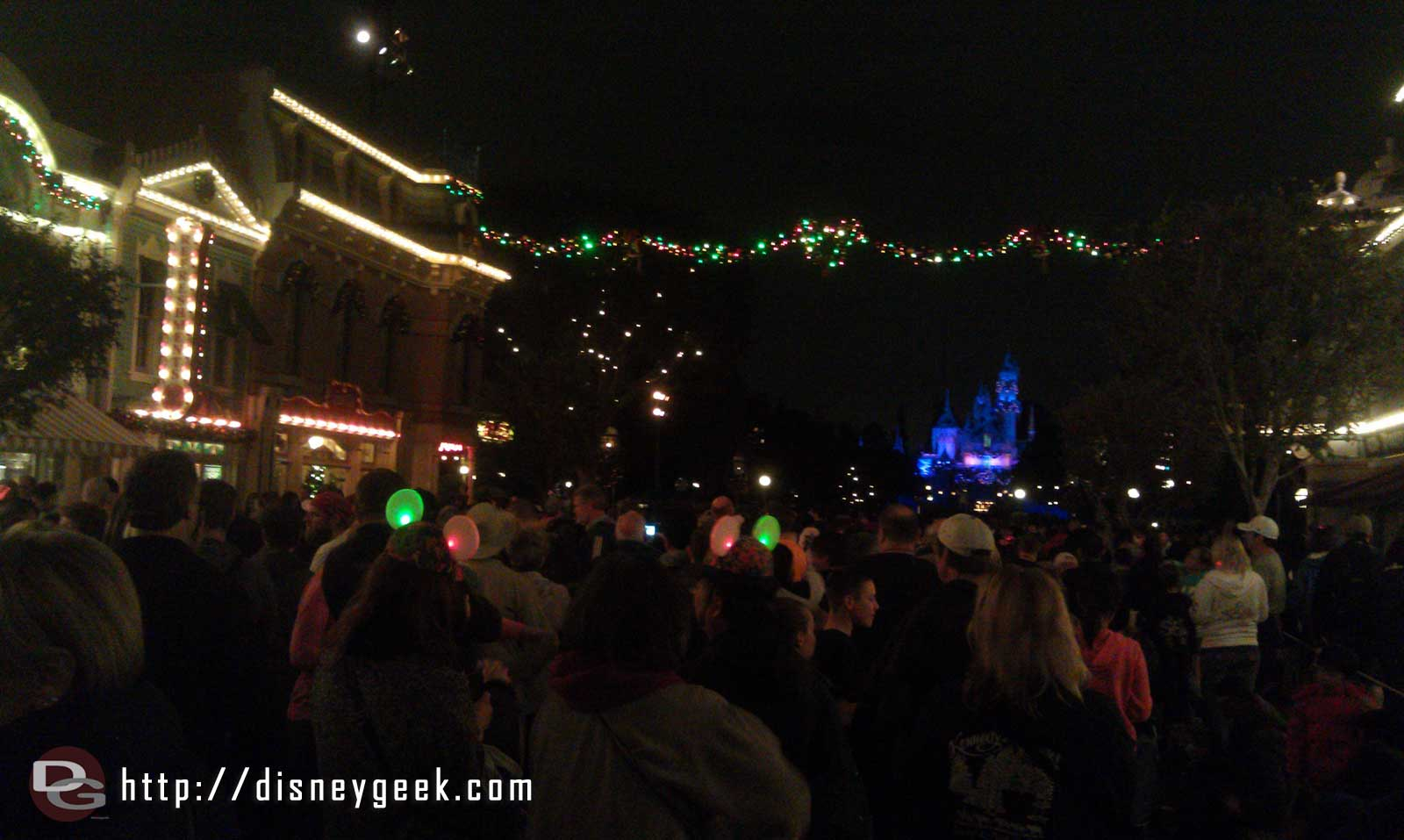 Waiting for Believe in Holiday Magic to begin.