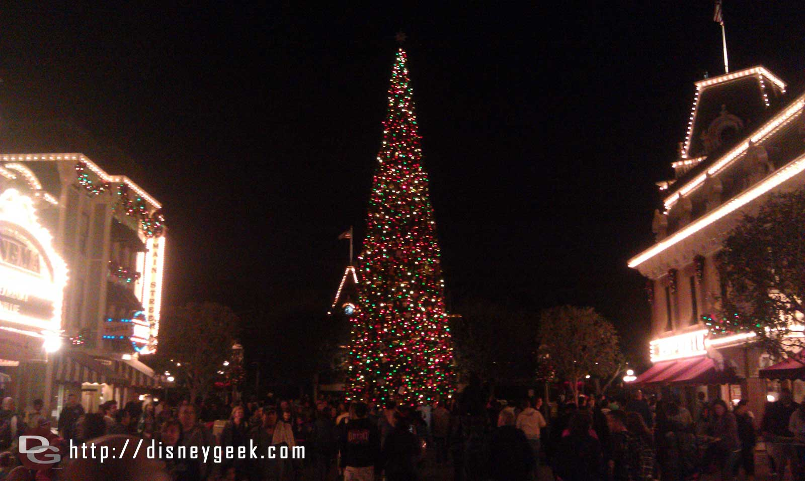 over to Disneyland.  The tree on Main Street USA